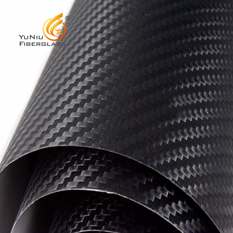 Custom Made High Tensile Rolling Process 3K Twill Weave Full Carbon Fiber Cloth