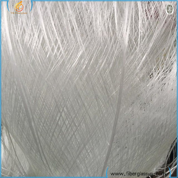 Fiberglass waste roving cut