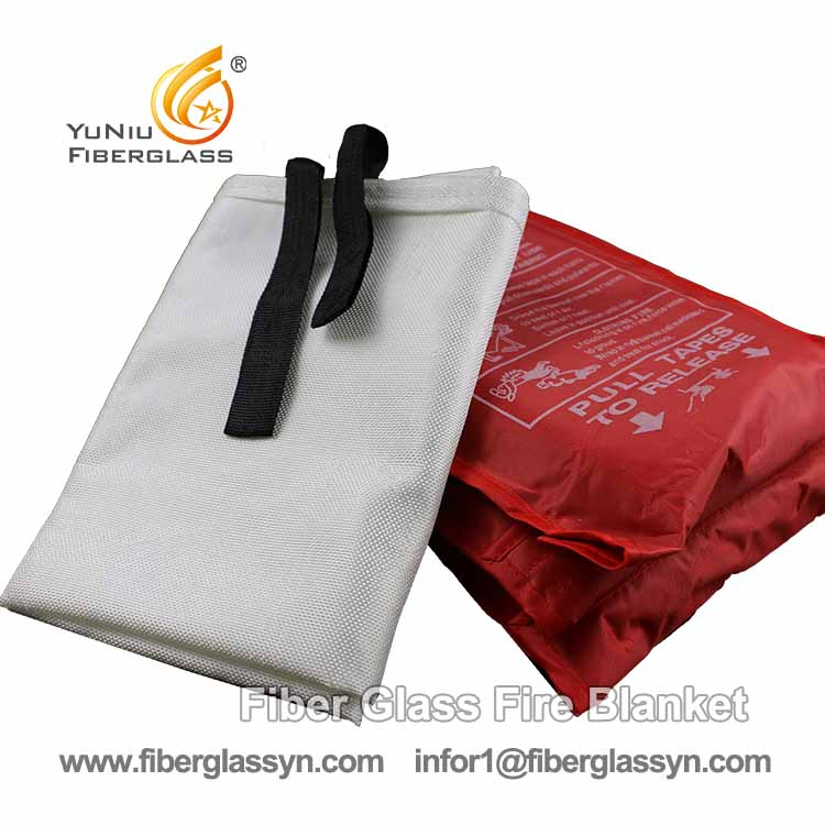 Factory price 1m*1m fibergalss fire blanket for kitchen