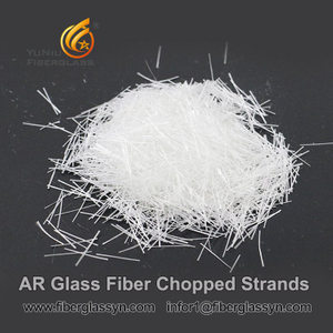 Glass Fiber / Fiberglass AR Chopped Strands For GRC / Concrete / Cement